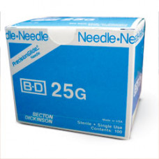 "BD 305122 PrecisionGlide Needle, 25G x 5/8"", Regular Bevel, Sterile, 400/BX"