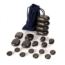 Hot Stone Set 20 Basalt Massage Stones, Starter Set
