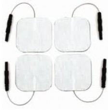 "Tens Electrodes 25 PACKS Square 2""x 2"" White Electrode (Total 100)"