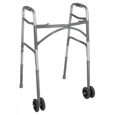 Bariatric Aluminum Folding Walker, Two Button 10220-1WW