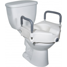 Drive-Elevated Raised Toilet Seat with Removable Padded Arms-RTL12027RA