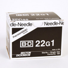 BD-305155 Needle Only 22 Gauge 1 inch 400/box -per orders