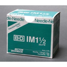 "BD305194   Needle, 23G x 1""1/2 Regular Bevel,100/bx -2pkTotal200"