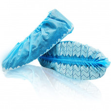Wave Shoe Covers Disposable with Non-Skid Print Made in  Canada 150 pairs