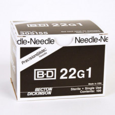 BD-305155 Needle Only 22 Gauge 1 inch 100/box -per orders