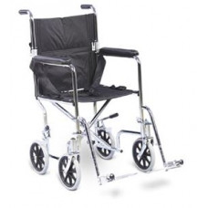 AMG Transport Chair With swing-away removable footrests, 19 inch-700-855