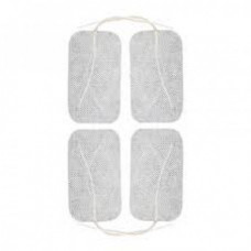 Tens Electrodes pack of 4 - Compass Health Compass Electrodes, 2 in. x 3.5 in. Rectangular, White Cloth, Poly Bag, Latex Free, 4/pk