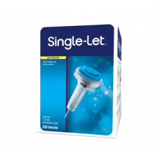 Single Let Sterile Single-Use Safety Lancets, 200 units