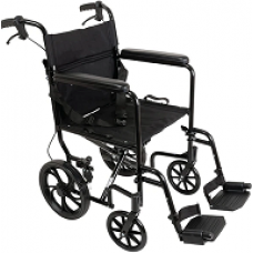 """ProBasics Aluminum Transport Chair with 12"""" Wheels"""