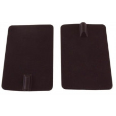 Rubber Electrodes, 2.75 in. x 4.3 in. Rectangle, 4/pk