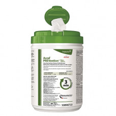 """Accel Prevention Minute One-step Surface Disinfectant Wipe 10"""" X 10"""" 60 Per Tub"""