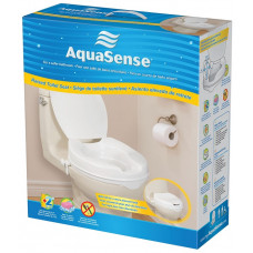 "AquaSense Raised Toilet Seat with Lid -Height 4"" -770-626"