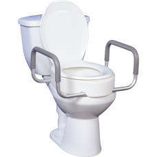 Premium Raised Toilet Seat with Removable Arms-Item # 12402