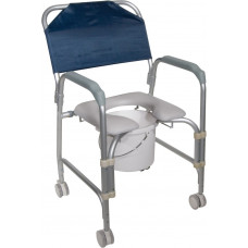Drive Aluminum Shower Chair and Commode with Casters