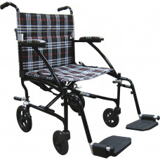 Fly Lite Ultra Lightweight Transport Wheelchair-DFL19-BLK