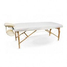 """Fitted Massage Table Sheet 100% Cotton Flannel Fitted fits tables up to 72""""L X 30""""W- White Single"""