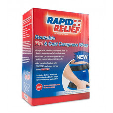 """Rapid Relief  Deluxe Reusable Hot & Cold Compress, Large 9""""x13"""" W/ Velcro Straps"""