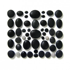 The Complete Massage Set - 50 Basalt Stones