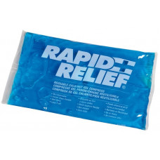 "RAPID RELIEF Reusable Hot & Cold Gel Compress -Size 9""x11"" Pack of 2"