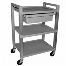 Two Shelf Cart With Drawer