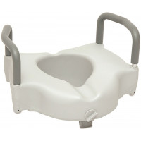 Locking Raised Toilet Seat With Arms By Probasics BSRTSLA