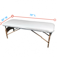 """Fitted Massage Table Sheet Flannel White - 6/Pack Fits Table 70""""x30"""" Only"""