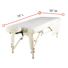 "Fitted Massage Table Sheet Flannel White - Each - Fit Table 78""L x 30""W  10 Pack"