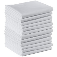 """Flannel Sheet Flat 100 % Cotton 5 pack per order-White Color-60""""x84"""""""