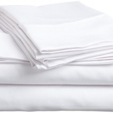 "Spa Sheet Flat (54""X90"") T-200 Non Iron, 12 / Case-White Color - Poly Cotton"