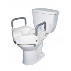 Locking Raised Toilet Seat with Removable Arms: MHLRTSA