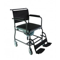 Mobile Steel Commode with Wheels: MHSCMW