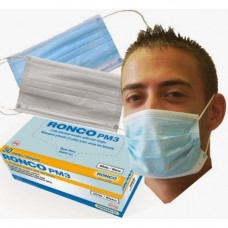 Ronco Pleated Mask - Ear Loop Mask 50/per box-5614 BLUE -  Equivalent to ASTM Level 2