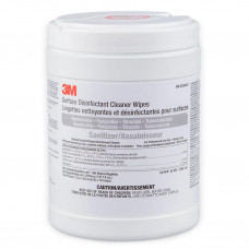 3M™ Surface Disinfectant Cleaner Wipes HSW-100, 3-Minute, 6 in x 10 in (15.2 cm x 25.4 cm), 100/Canister