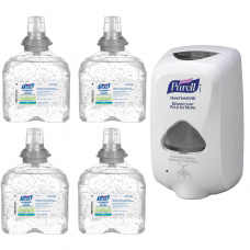 TFX Touch Free Dispenser & 4 Advanced Hand Sanitizer, 1200 ml, Cartridge Refills, 70% Alcohol 5770