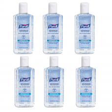 -A Purell Advanced Gel Hand Sanitizer 4 oz 70% Alcohol Content 118 mL (6 Pack)