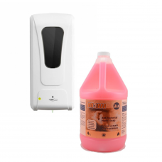 TOUCH FREE AUTOMATIC DISPENSER WITH 4 L BM 1000 HAND SOAP COMBO