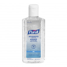 -Purell Advanced Gel Hand Sanitizer 4 oz 70% Alcohol Content 118 mL (6 Pack)