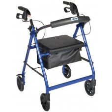 Drive Medical-Rollator Walker with Fold Up and Removable Back Support - Padded Seat-R726