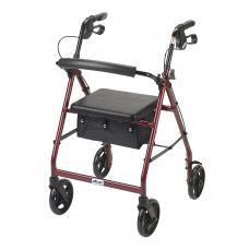 Rollator Walker with Fold Up and Removable Back Support and Padded Seat-R728