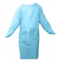 DISPOSABLE GOWN CAST POLYETHYLENE WITH THUMB LOOPS (50/BOX)