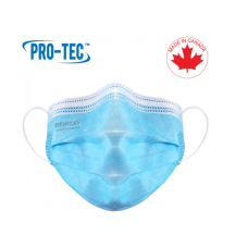 ASTM RONCO LEVEL-2 MASK-PRO-TEC 3 ply Pleated Masks 50/Bx