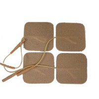 """-2""""x2""""Tan Color-High Quality Tens pads  Electrodes 5 packs (20 total)for Tens 6300,Tens 7000,Neo"""