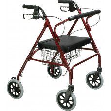 Drive Medical Go-Lite Bariatric Steel Rollator # 10215RD-1