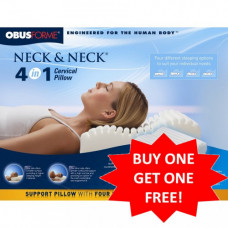 OBUSFORME Neck and Neck 4 in 1 Cervical Pillow BUY 1 GET 1 For FREE
