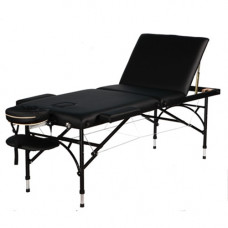 "Aluminum 3 fold portable massage table with Extra thick 4"" Cushion -101641"