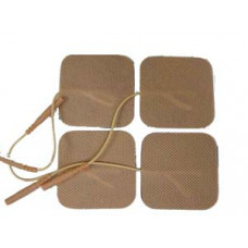 "2""x2""Tan-High Quality Tens Electrodes 10 packs (40 total)-for Tens 6300,Tens7000,Neo"