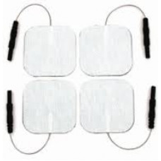 "4 Packs 2""X2"" of 4 (16 total) Sq.White Cloth Electrodes - Tens Pads-6300"