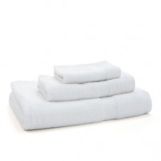 "White Towel Set - 27""x54"" -16""x27"" and 13""x13"" one of Each"