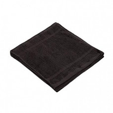 Towel Ring Spun Textile 100% Soft Cotton WASHCLOTHS Face Towels 12x12 in. 12-Pack Black