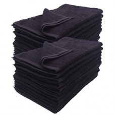 "Black Towel 11""x17"" 100% Terry Towel -Salon Towels -12 pack per order"